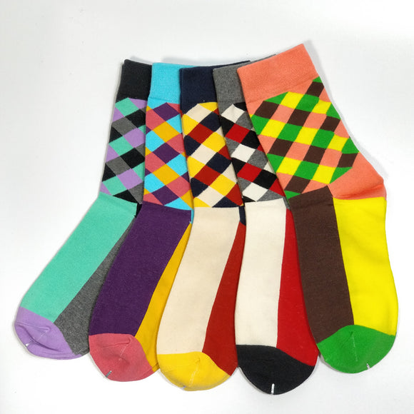 Men's Socks, Awesome, Colorful Plaid/Checkered Design~Scantily33x - Scantily33x
