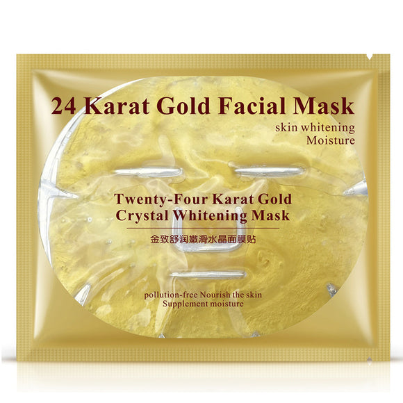 Beauty Bar~ 1 PCS 24K Gold Crystal Whitening, Moisturizing, Anti Aging Mask~Scantily33x - Scantily33x