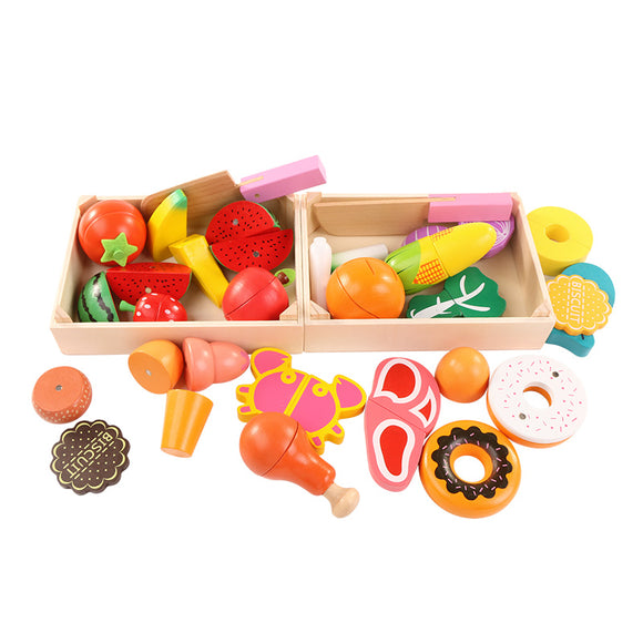 Wooden Toys~ Miniature Fruits & Vegetables - Scantily33x