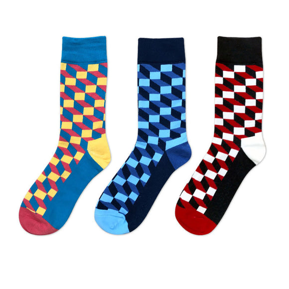 Men's~3 Pairs Of Happy Socks Per Set. 3 Different Style Sets~Scantily33x - Scantily33x