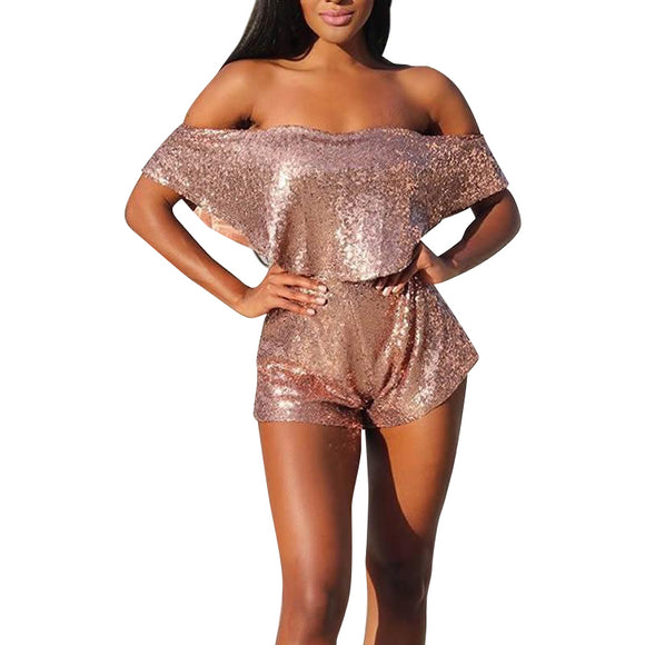 Metallic~ Women's Sequin Crop Top & Shorts~Scantily33x - Scantily33x