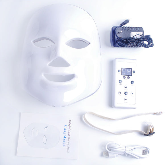 Beauty Bar~ Anti-Aging~ LED Photon 7 Light Beauty Mask~Scantily33x - Scantily33x
