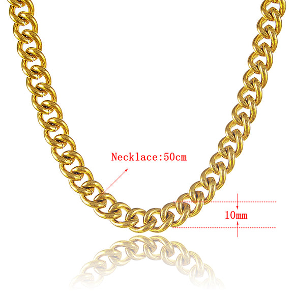 Men's~Necklace~Thick Gold Chain Necklace~Scantily33x - Scantily33x