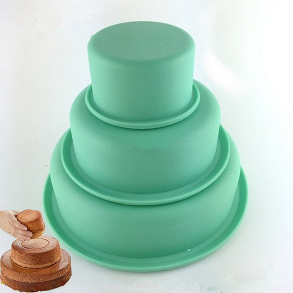 Kitchen Tools~ Silicone Three Layers Cake Mould~Scantily33x - Scantily33x