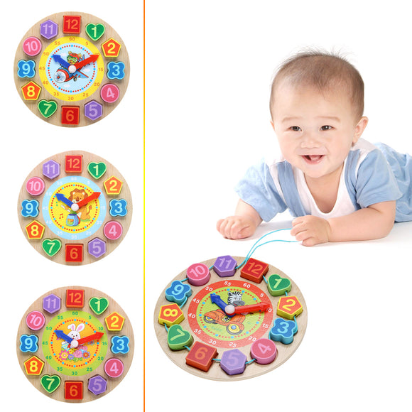 Wooden Clock Toy - Scantily33x