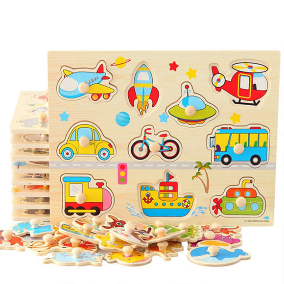 Wooden Toys~ Educational 3D Wooden jigsaw puzzle mental educational toy - Scantily33x