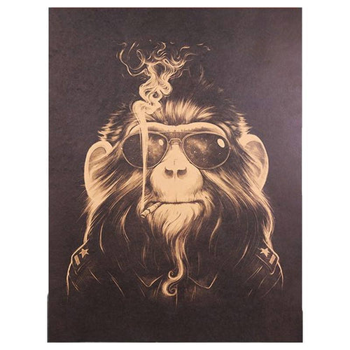 [NEW !] Poster Monkey Smoke - Free Vibes