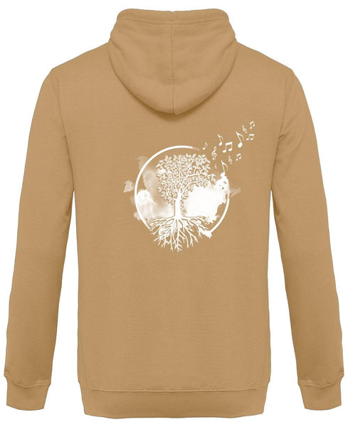 [NEW!] [ TREE OF MUSIC ] - Design au Dos - Sweat à Capuche Unisexe