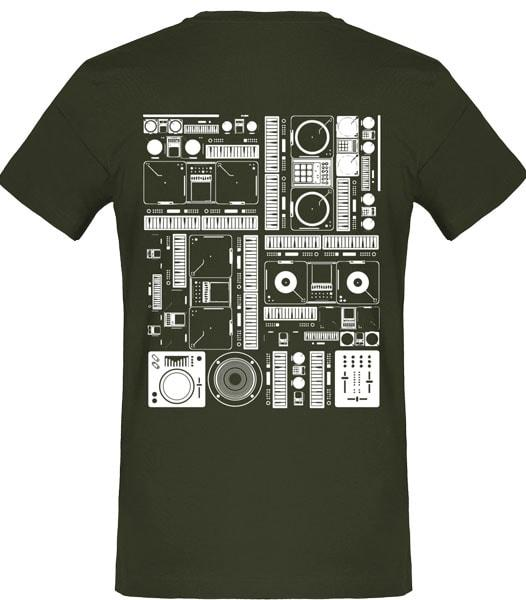 t-shirt homme vert platine dj tekno free party musique teufeur free vibes