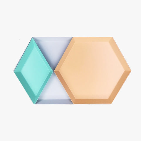 SIMPLE TRAY APRICOT HEXAGON