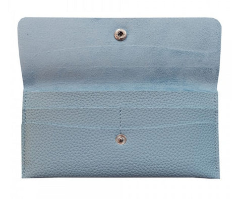 blue wallet animaal amsterdam pu leather