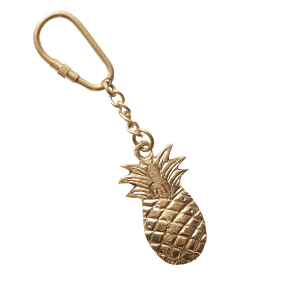 pineapple keychain brass animaal amsterdam