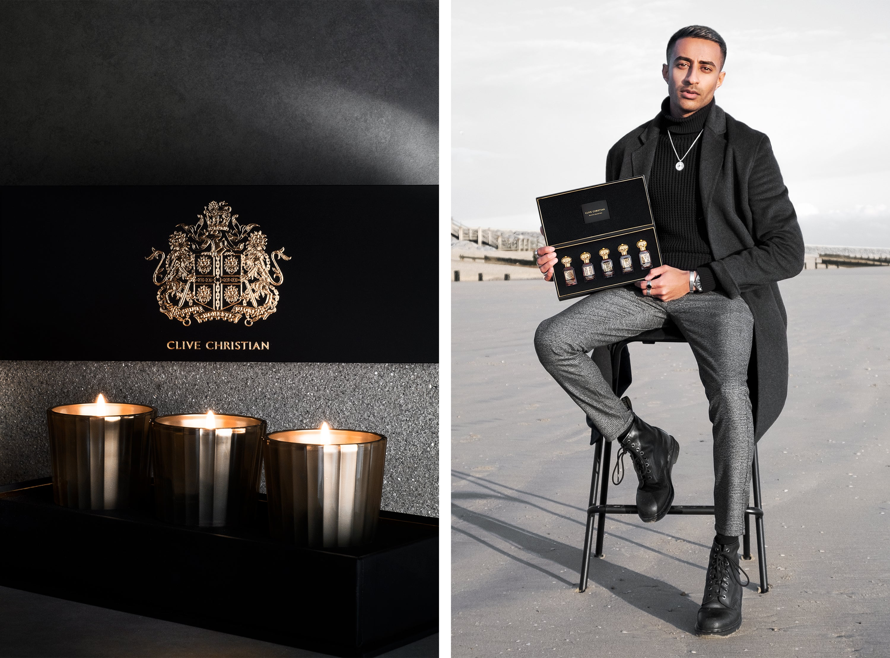 Rahul Patel Clive Christian Perfume Private Collection Set and Candle Set