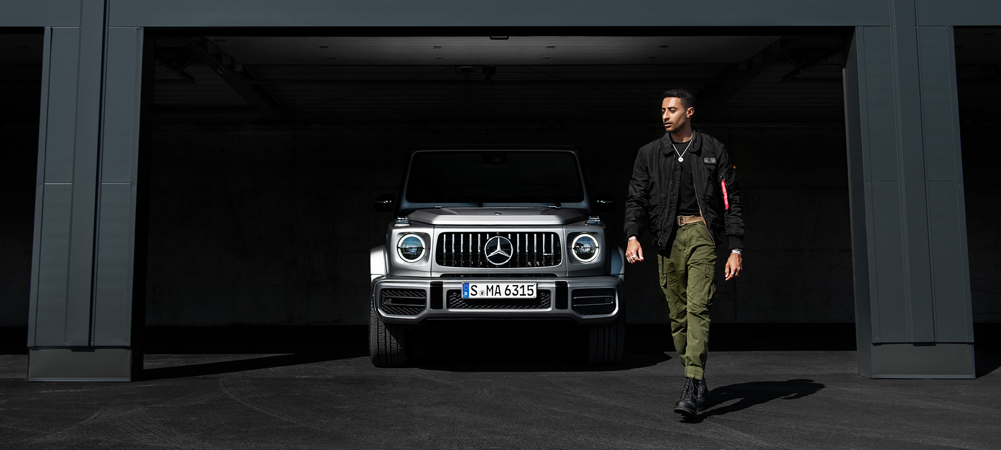 Rahul Patel Collection 925 Sterling Silver Jewellery Mercedes Benz GClass G63 Graz Austria Alpha Industries Dr Martens Tag Heuer