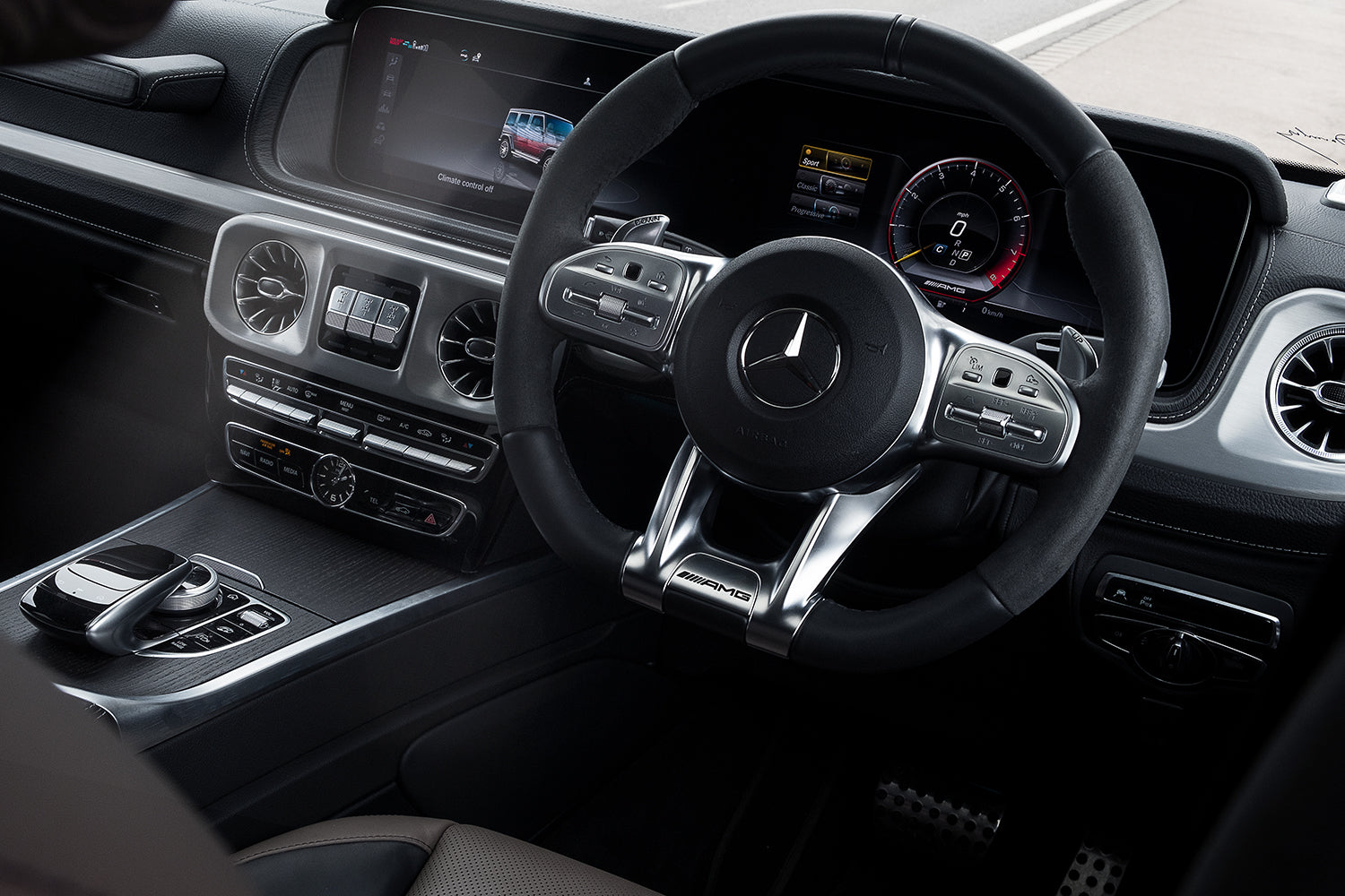 Rahul Patel Blog Mercedes Benz UK AMG G63 Car Snowdonia Wales UK Interior