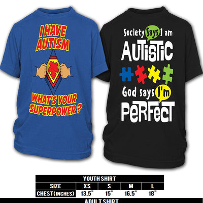 SUPER SAVER COMBO PACK - AUTISM PRIDE SHIRT - Regular Price - $59.95, TODAY ONLY - $39.95