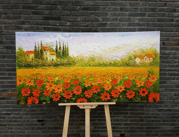 Abstract Art, Canvas Wall Art, Landscape Painting, Large Art, Canvas ...