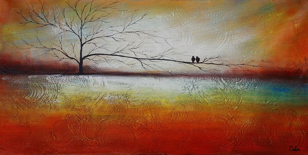 Wall Art Contemporary Art Art Painting Love Birds Painting