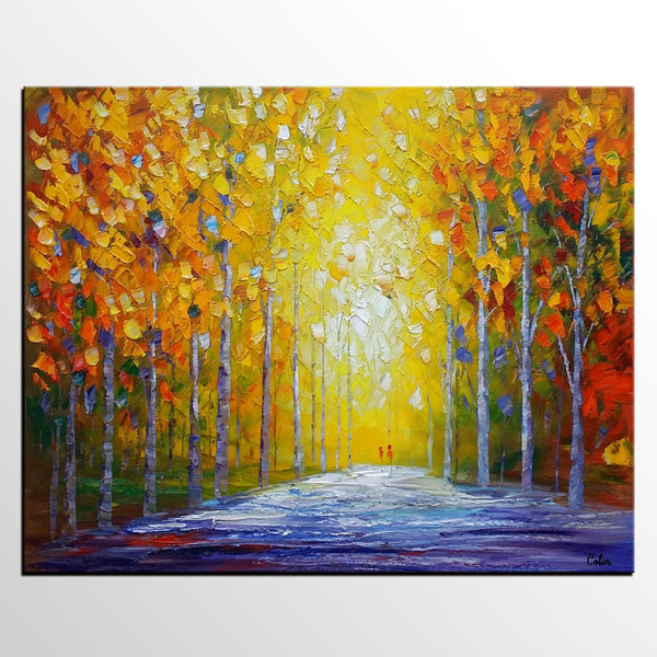 . Oil Painting  Abstract Modern Art  Autumn Landscape Painting  Canvas Wall  Art  Painting for Sale