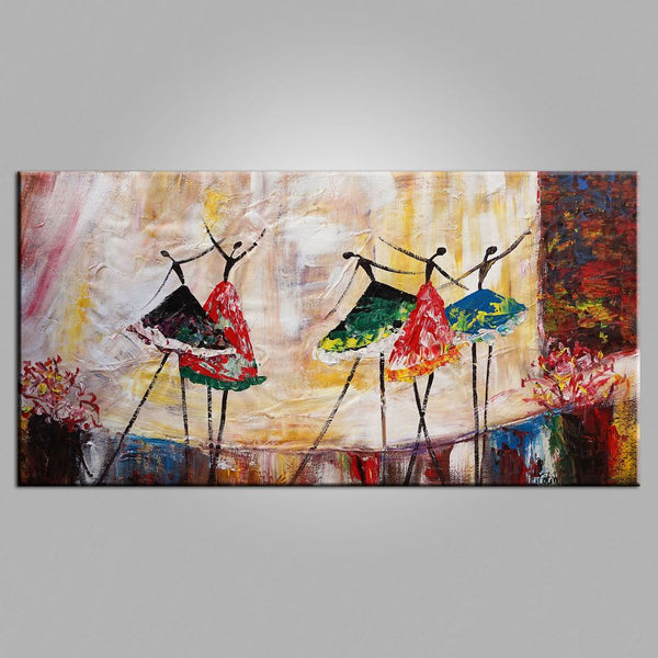 Wall Art Ballet Dancer Painting Abstract Large Canvas