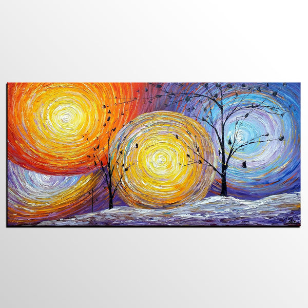 Abstract Art Painting, Canvas Painting, Tree of Life, Oil Painting ...