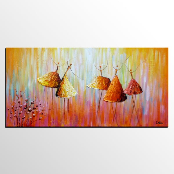 Canvas Wall Art Original Painting Abstract Ballet Dancer