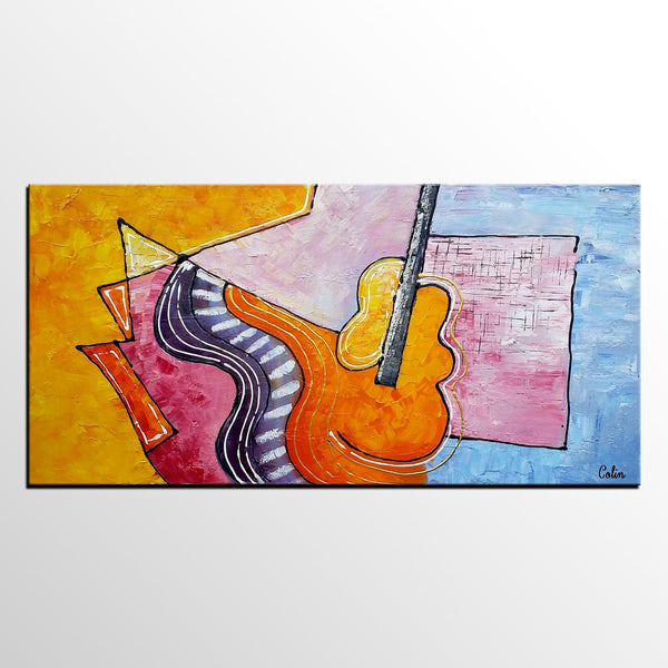 Violin Painting, Abstract Art, Canvas Painting, Oil Painting ...