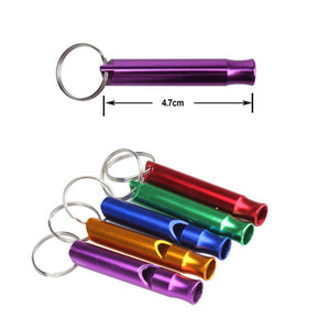 Outdoor Metal Multifunction Whistle Pendant With Keychain Keyring For Outdoor Survival Emergency