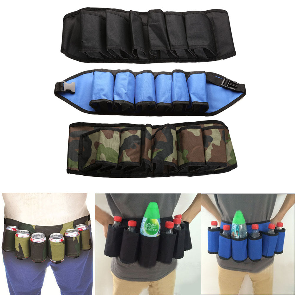 6Pcs Soda Wine Beer Belt Carrier Holder Outdoor Camping Picnic