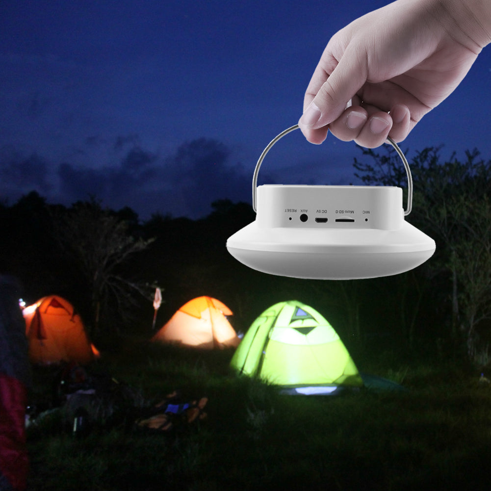 Outdoor Tent Light Lantern LED Hanging Camping Tent Light USB Charging FM Radio Bluetooth Speaker