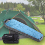 Blue Mummy Sleeping Bag Ultralight Lengthened Camping Travel Hiking Sleeping Bags
