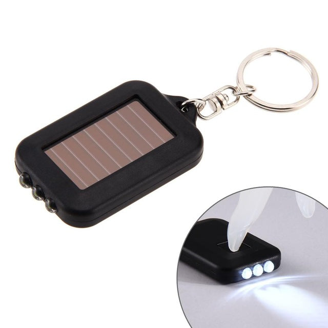 Multi Tool Solar Energy Light 3 LED Electric Torch With Key Chain Mini LED Lanterna Lighting Outdoor Tools
