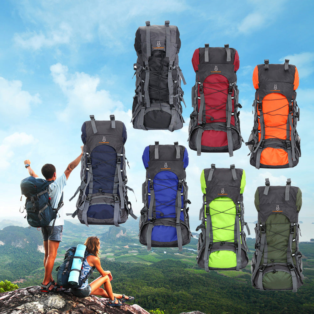 60L Outdoor Travel Backpack Waterproof
