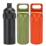 EDC Keychain Waterproof Bottles Emergency First Aid Survival Pill Bottle