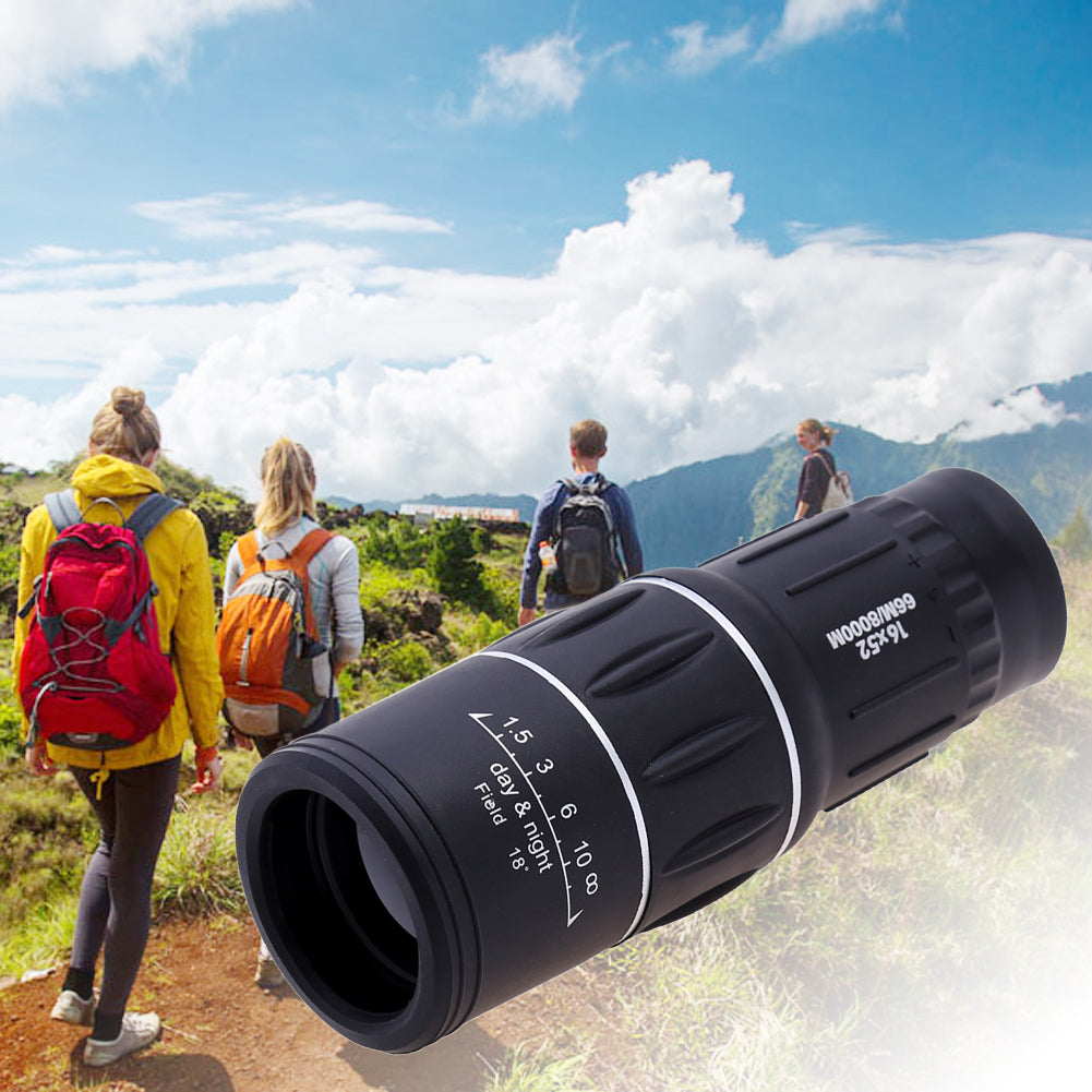 Outdoor Binoculars 16X52 Black Telescope High Over Clear Double Adjustable Single Binoculars For Camping Hiking Travel