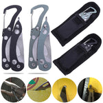 1Pcs Portable Folding Pliers Grey Black Multifunctional Plier With Cloth Cover