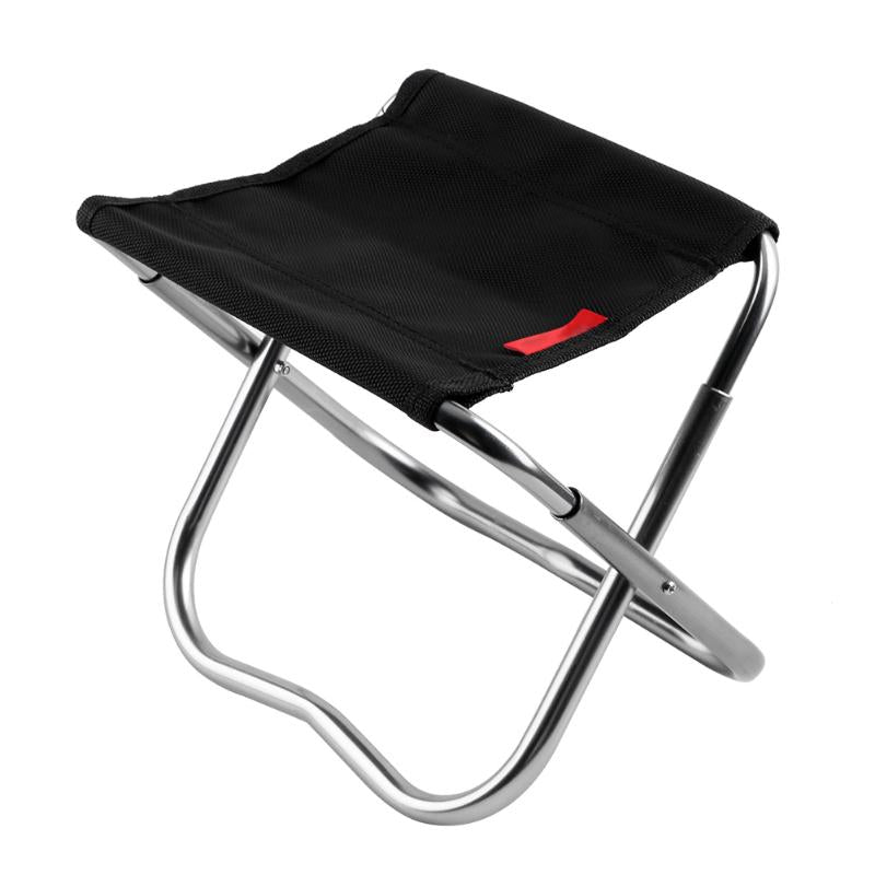 Outdoor Camping Fishing Aluminum Alloy Folding Stool Portable