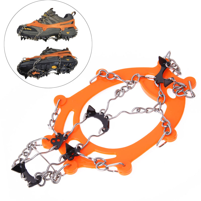 Anti Slip Ice Grip Cleats Shoe Boot Crampon Ice Grip Chain Overshoe Spike Sharp Snow Walker Ice Gripper for Winter Outdoor