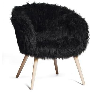faux fur chair quirky
