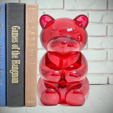 A perfect compliment to our Gummy Bear glasses holder, we absolutely love this book end. Fun, quirky and totally unique - this giant gummy bears holds all your books, CDs and DVDS in place. It's so useful, or, if you're like us - we use it as an ornament - everyone loves it! At 1.2kg it'll easily keep your books and more in place!