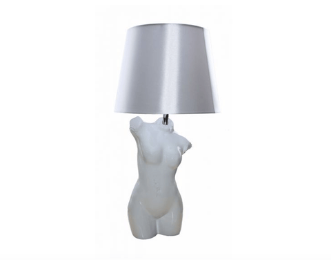Bust Table Lamp - White