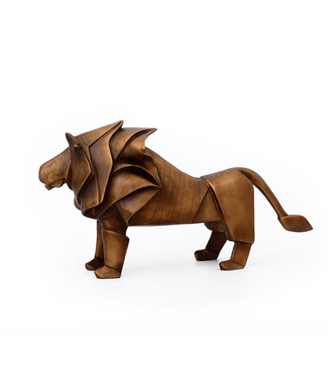 Golden Lion Sculpture - Stumble & Loaf
