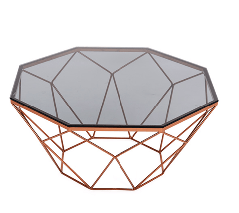 Geo Rose Gold Coffee Table - Stumble & Loaf