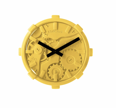 Gears Clock - Yellow - Stumble & Loaf