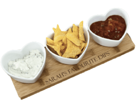 Personalised Heart Dips - Stumble & Loaf
