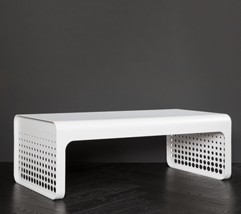 Handmade Punched Coffee Table - Stumble & Loaf