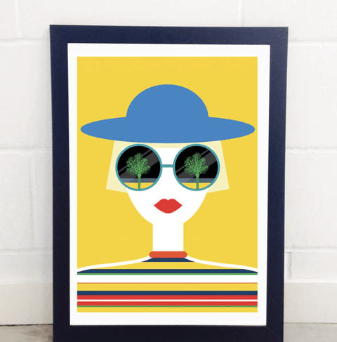 A2 Framed Print - Sunglasses - Stumble & Loaf