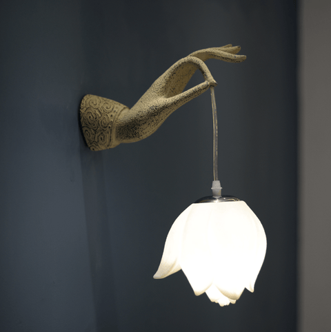 Grasping Lotus - Wall Light - Stumble & Loaf