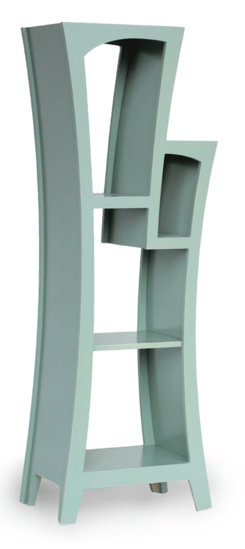 Curvy Bespoke Stepped Bookcase - Stumble & Loaf