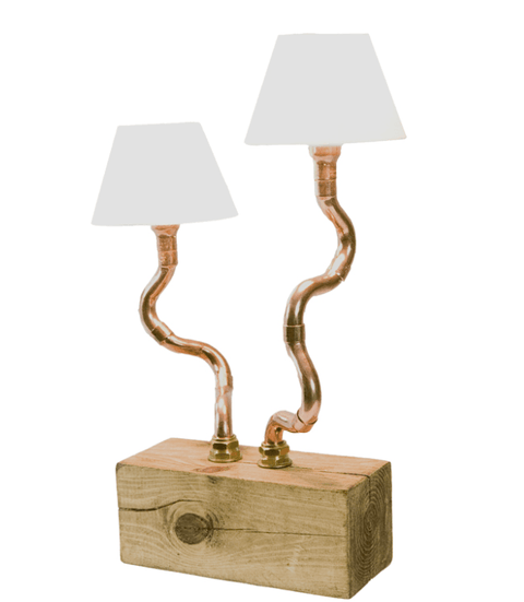 Copper Pipe Light Double